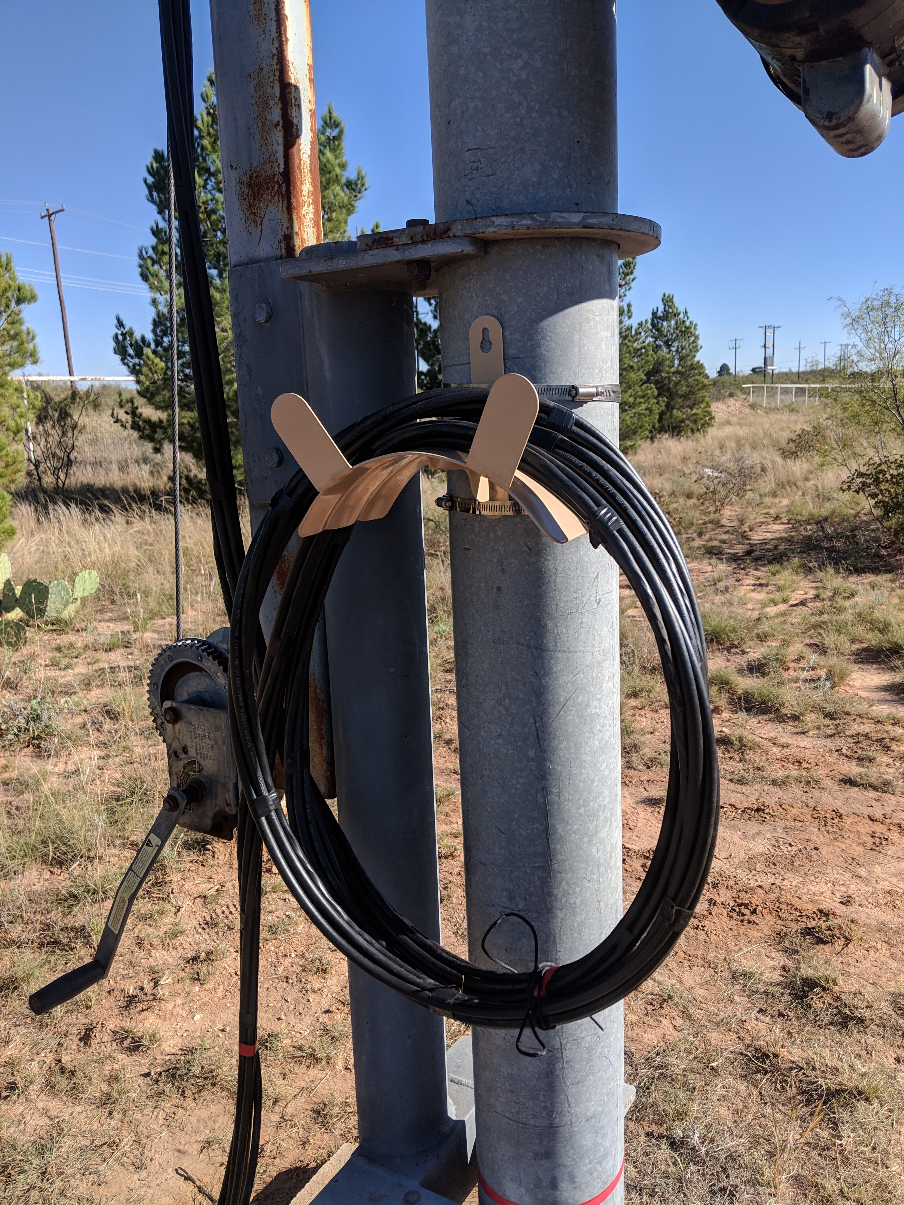 Crank-up Tower Coax Routing | N5NA's Ham Radio & Other Stuff Blog